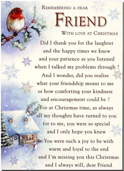 Remembering A Dear Friend With Love At Christmas Family