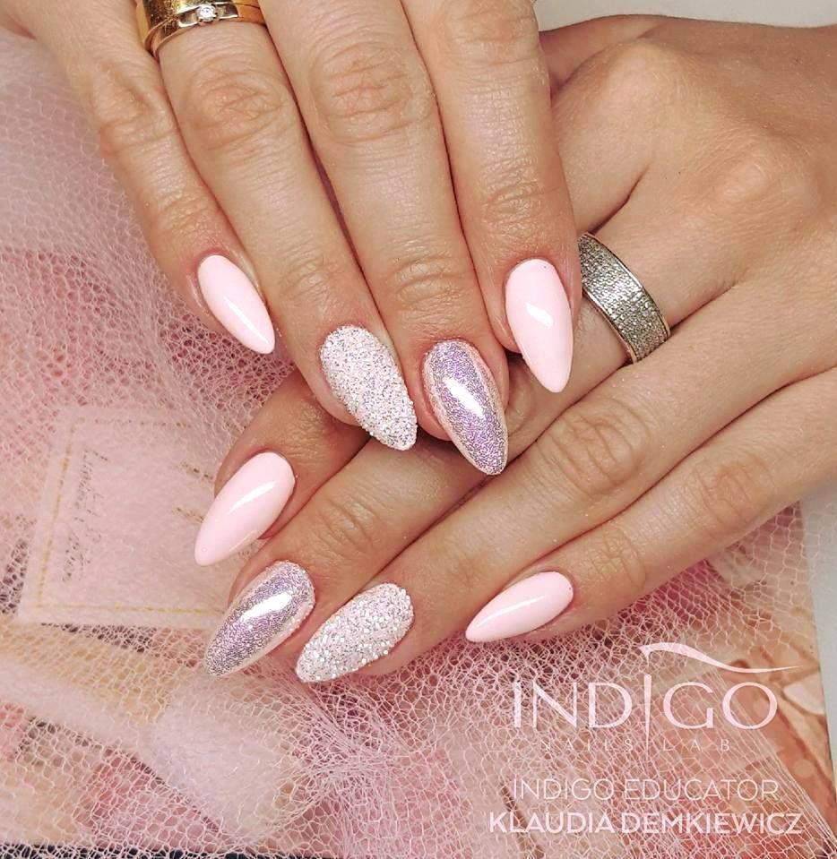 Paznokcie Slubne Poznaj Najgoretsze Trendy Classy Acrylic Nails Indigo Nails Glitter Gel Nails