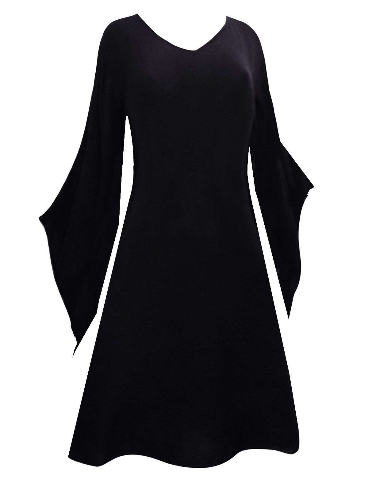Long black medieval top dress plus