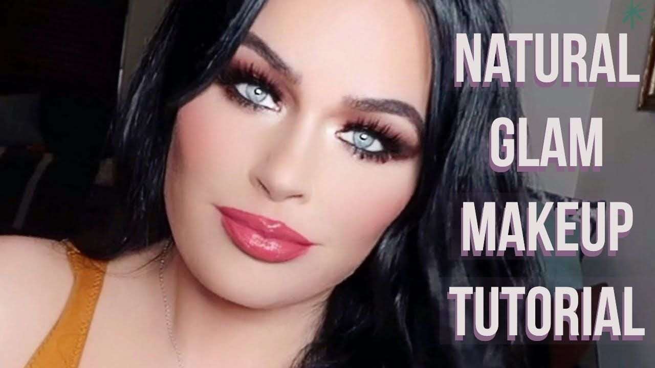 Holiday Natural Glam Makeup Look I Red Lips Soft Glam Tutoria Soft