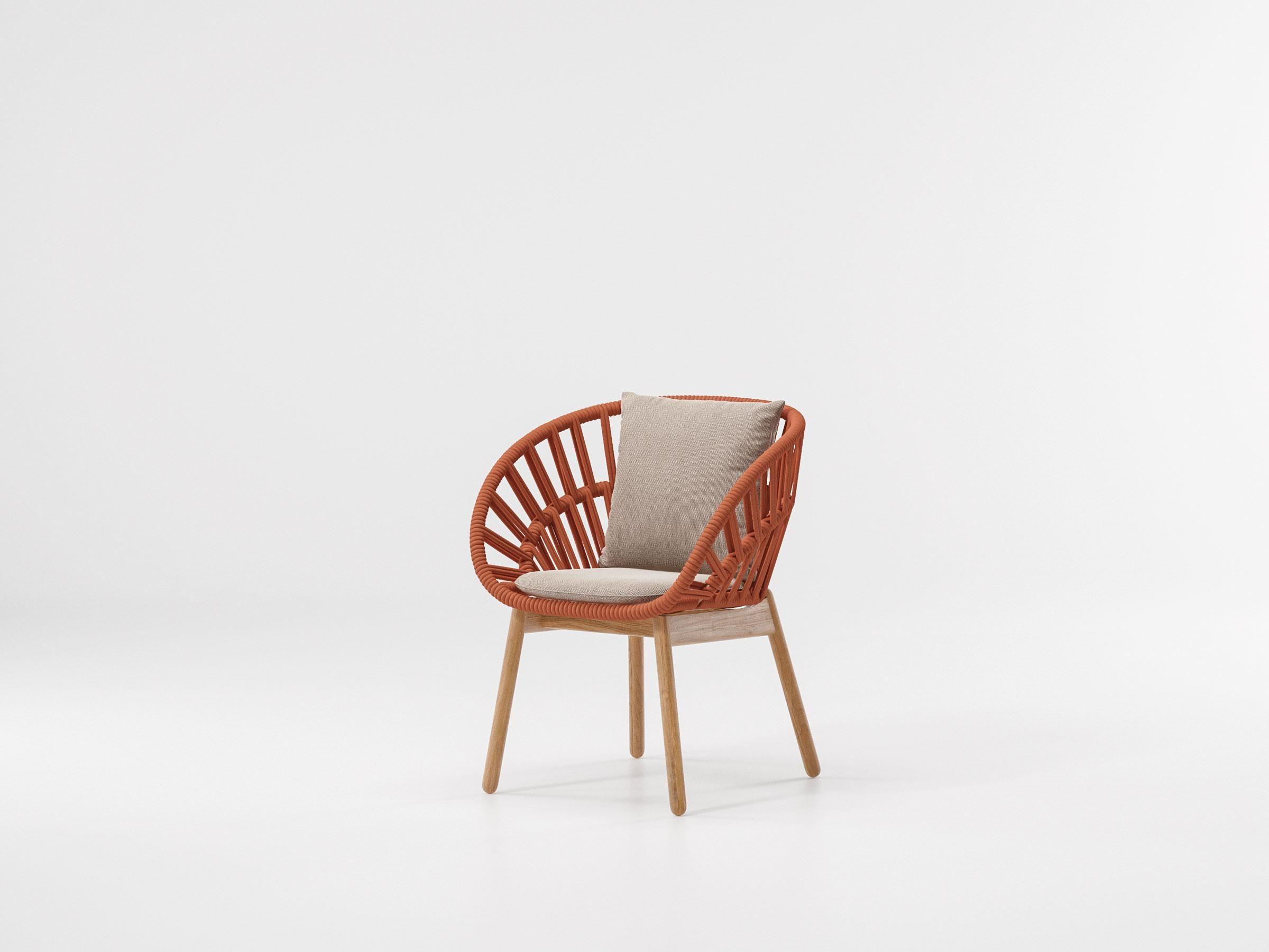 Kettal Cala Dining Chair Teak Leg Retro Office Chair
