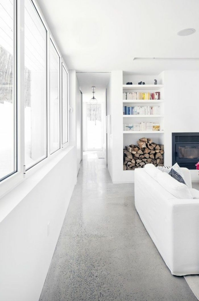Decouvrir Le Sol En Beton Cire Dans Beaucoup De Photos Interieurs En Beton Plancher En Beton Poli Et Beton Poli