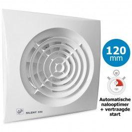 S&P Silent ventilator 200CRIZ - 120mm - met Automatische timer en ...