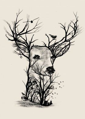 'Wild Buck' Metal Poster Print - Dan Fajardo | Displate