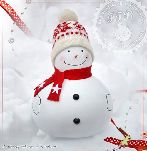 Christmas gourd snowman... and Happy Holidays...