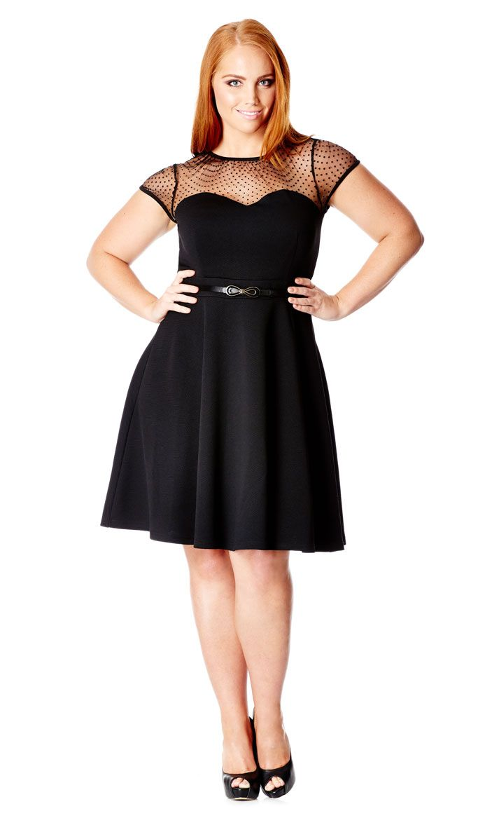mesh contrast dress - city chic | { plus size clothing