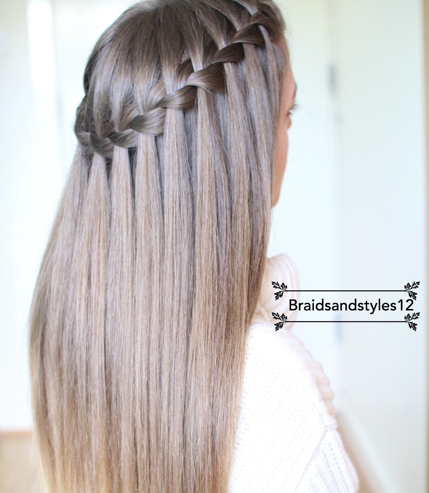 diy waterfall braid by braidsandstyles12 tutorial https. Black Bedroom Furniture Sets. Home Design Ideas
