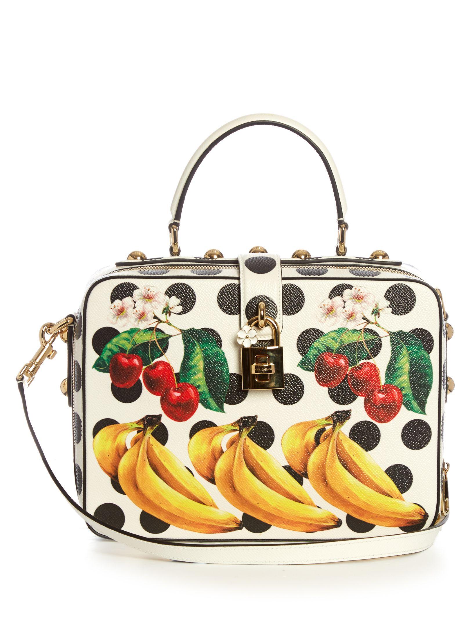 DOLCE   GABBANA Dolce Box polka-dot print leather bag   handbag ... 3f33fdaec4