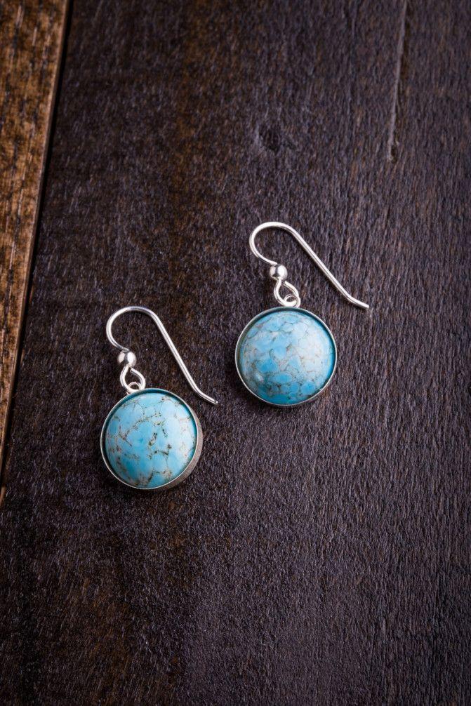 Memphis Silver and Aqua Earrings on BourbonandBoots.com