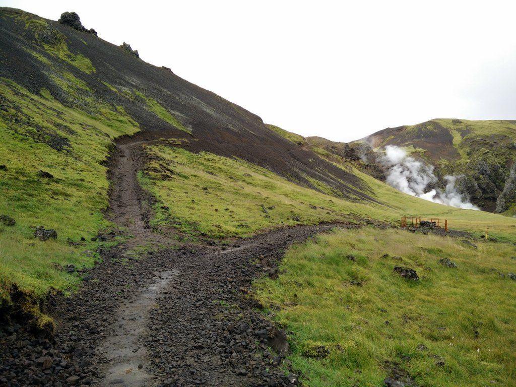 Photo of Hveragerdi-Fluss-Spur der heißen Quelle – Wandern von Island…