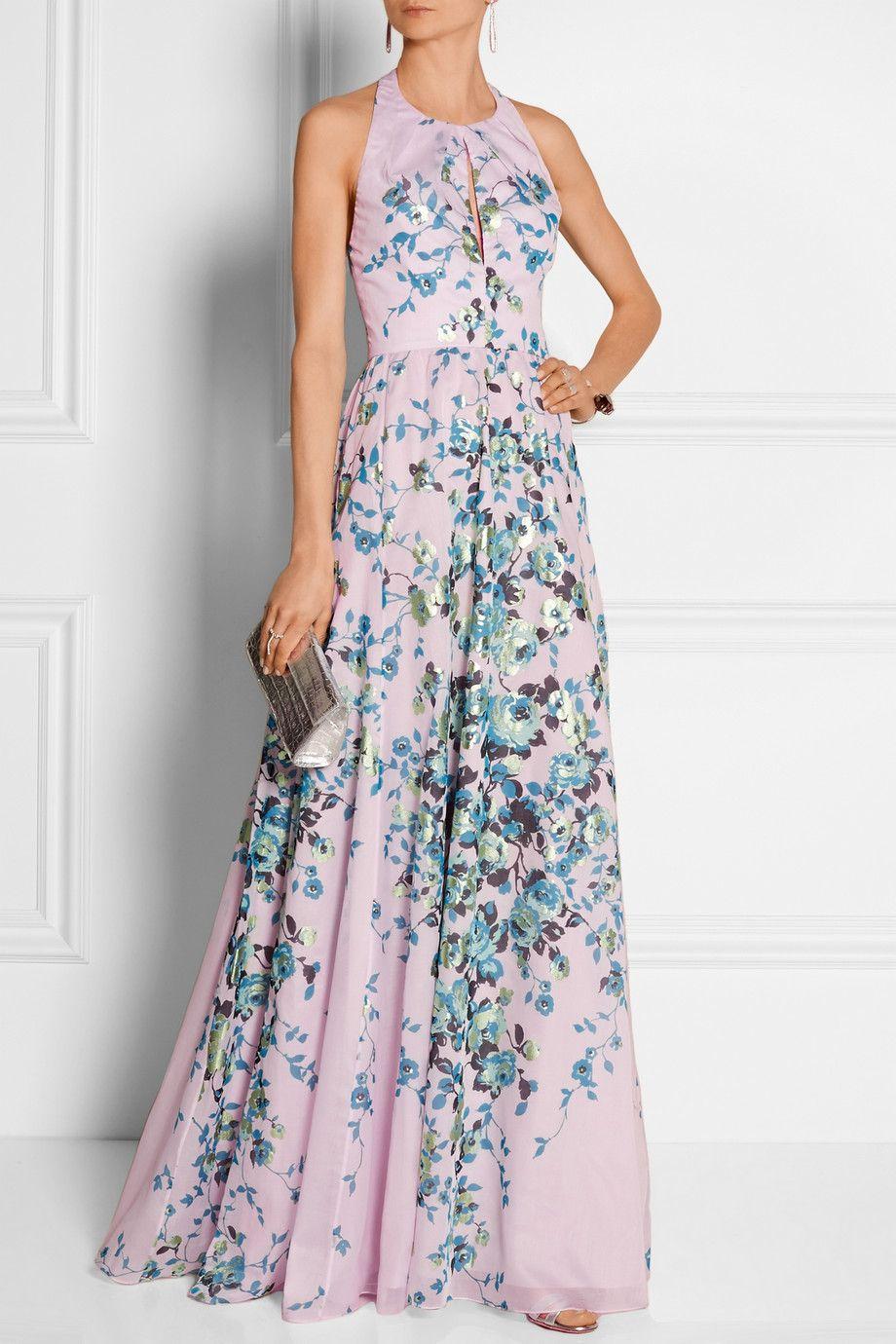 Lela rose floralprint cottonvoile gown netaportercom