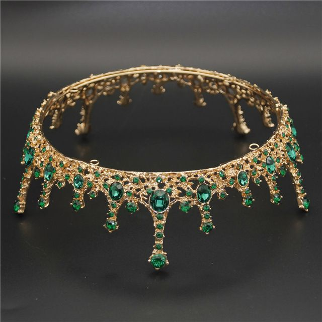 Gold/silver tiara crown headdress queen/ tiaras crowns wedding hair jewelry bridal prom banquet headpiece