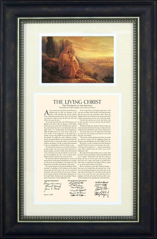 The Living Christ Framed With Picture, Framed with Savior Image ...