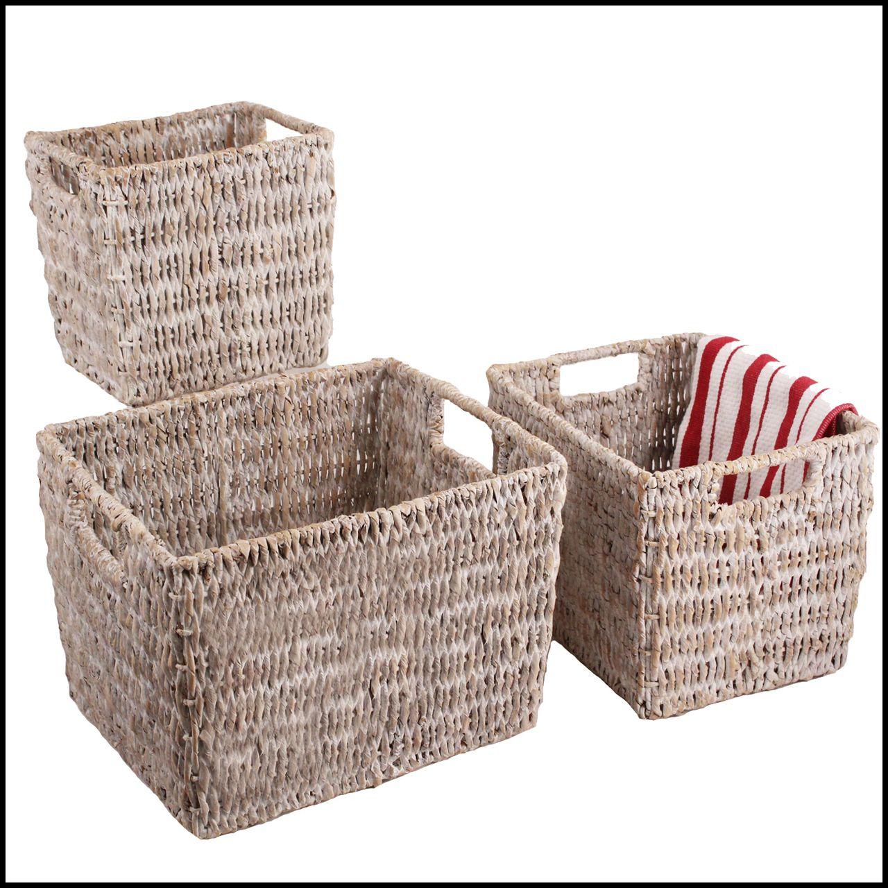 3 Piece Storage Basket Sets | WoodardandCharles.com
