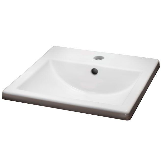 American Standard Marquette Square Drop In Lavatory Sink