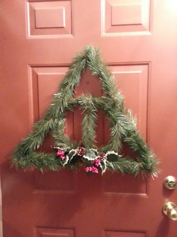 Harry Christmas! Harry Potter Christmas wreath - Deathly Hallows