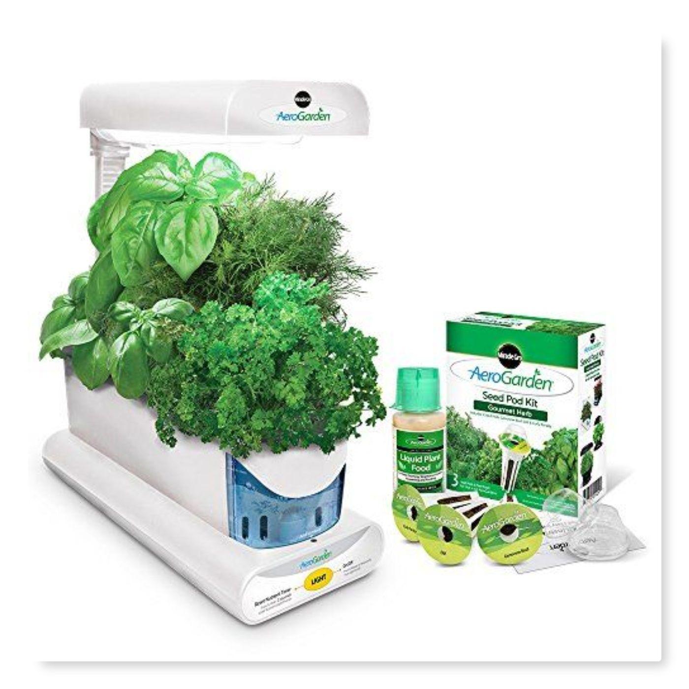 Aerogarden Sprout With Gourmet Herb Seed Pod Kit White 400 x 300