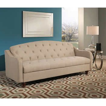 Sleeper Sofas Vera Fabric Sleeper Sofa With Storage Ivory