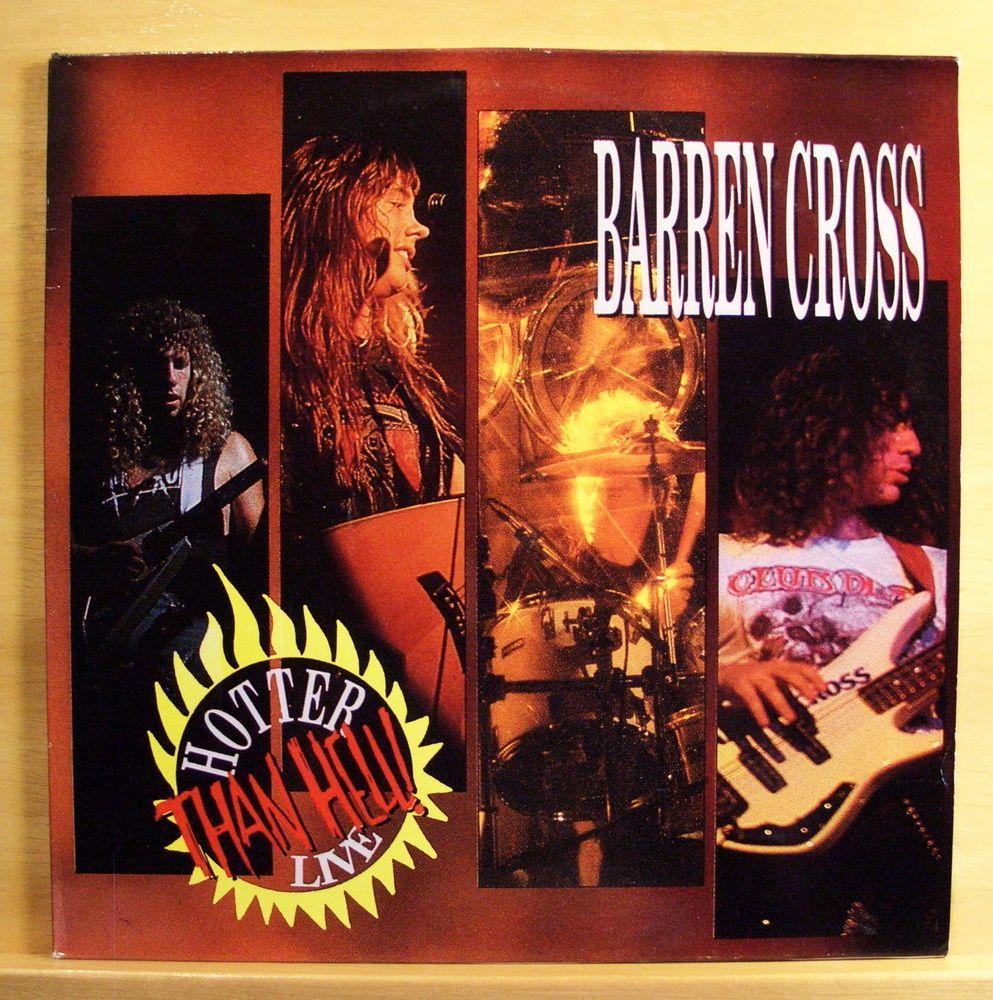 BARREN CROSS - Hotter than Hell Live - near mint - Vinyl 2-LP Rare Heavy Metal