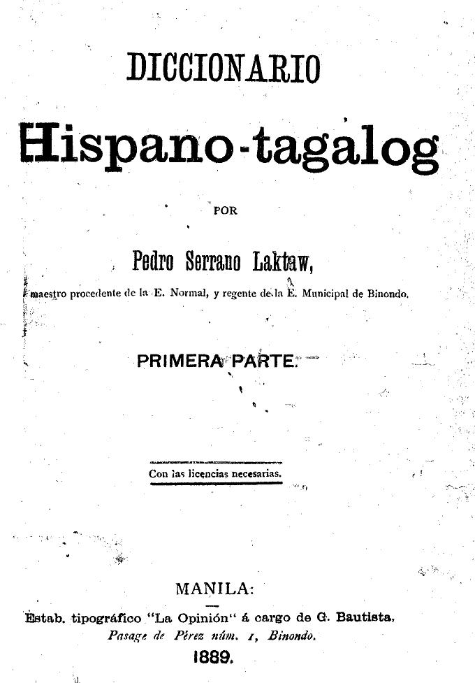 diccionario hispano tagalog por pedro serrano laktaw httpquodlib