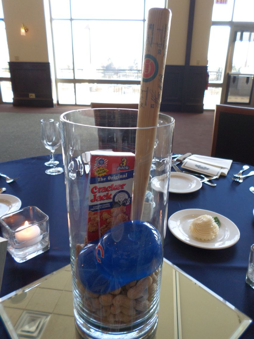 Check Out This Chicago Cubs Wedding Centerpiece
