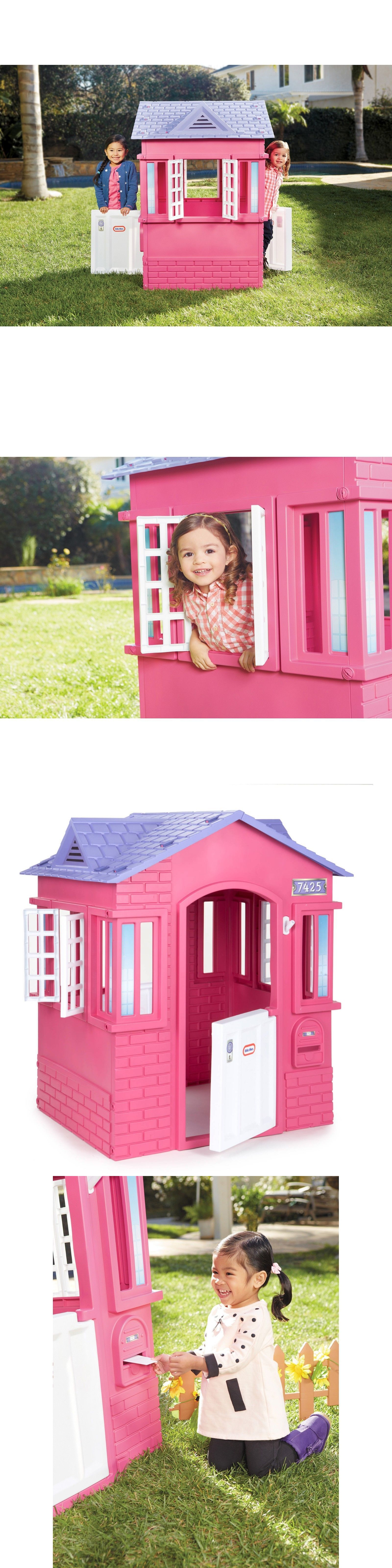 Permanent Playhouses 145995 Little Tikes Princess Cottage Playhouse Pink It Now Only 119 54 On Ebay