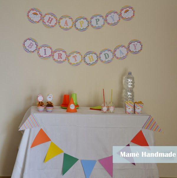 Festa di compleanno a tema arcobaleno e stampabili da scaricare