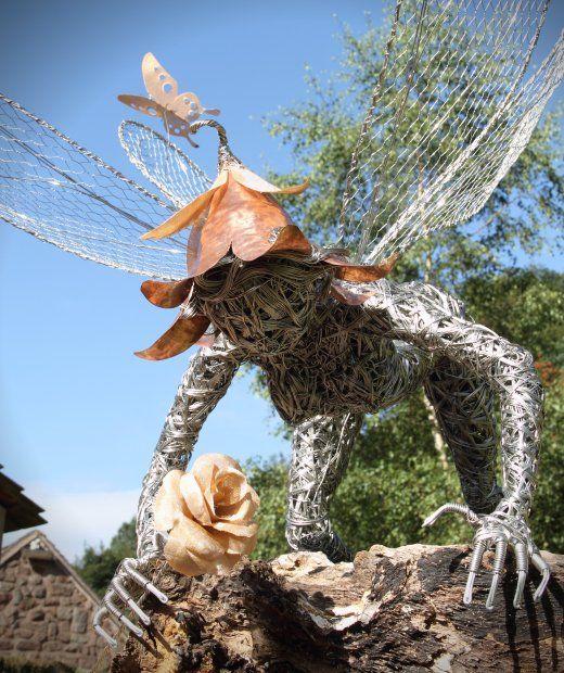 Fantasy Wire Fairy Sculptures - Girly Design Blog