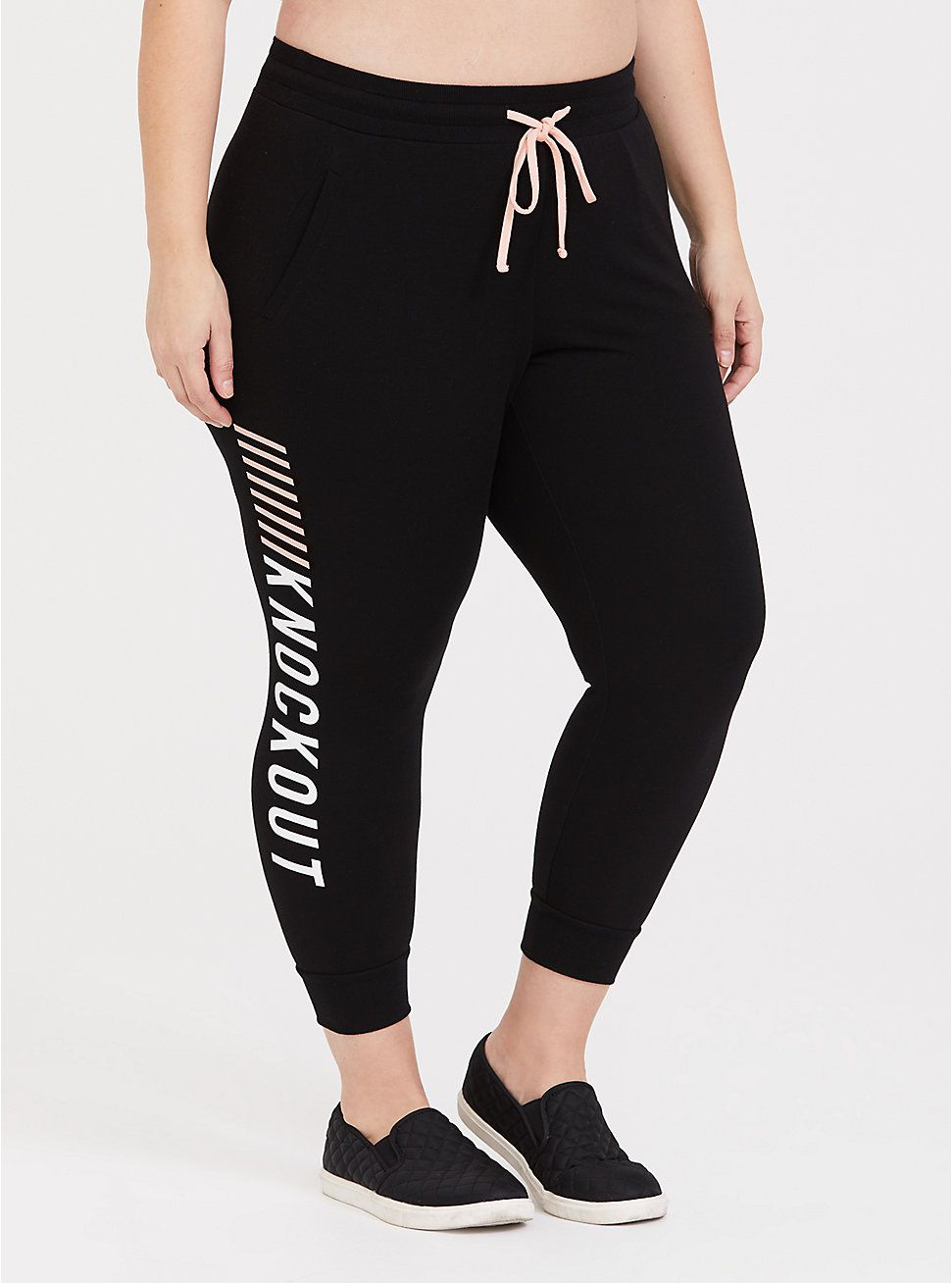 Black Knockout French Terry Active Jogger   French terry ...