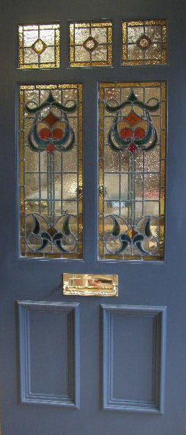Art Nouveau Stained Gl Door Front