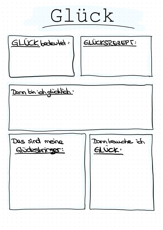 Gluck Unterrichtsmaterial Im Fach Ethik Unterrichtsmaterial Grundschule Unterrichtsmaterial Grundschule