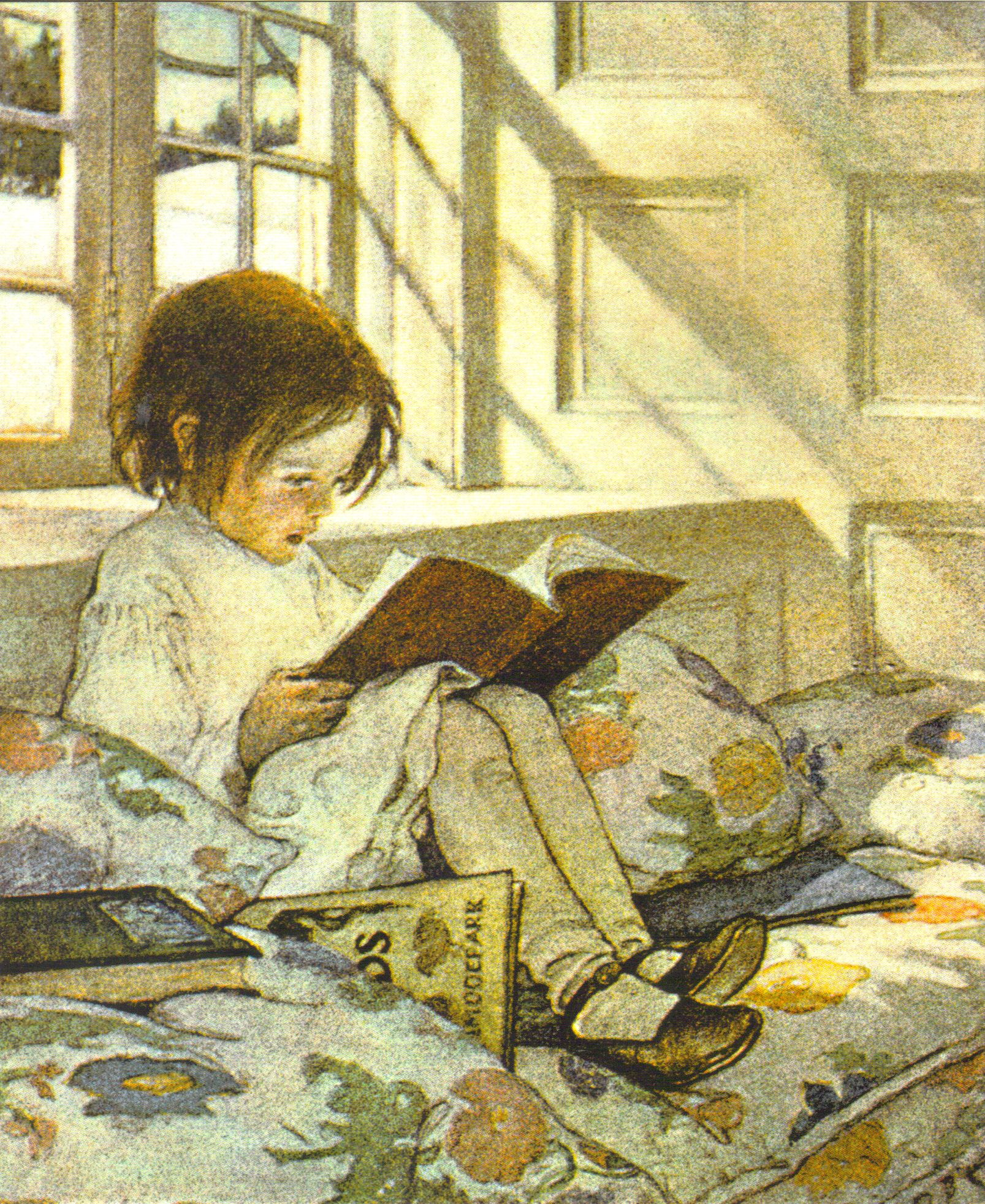 Libros Ilustraciones Girl Reading By Jessie Willcox Smith
