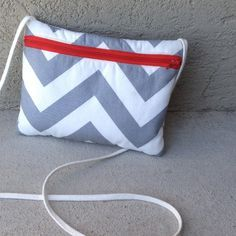 Colleen's awesome waterproof crossbody zipper bag - perfect for when you don't want to carry an entire purse!