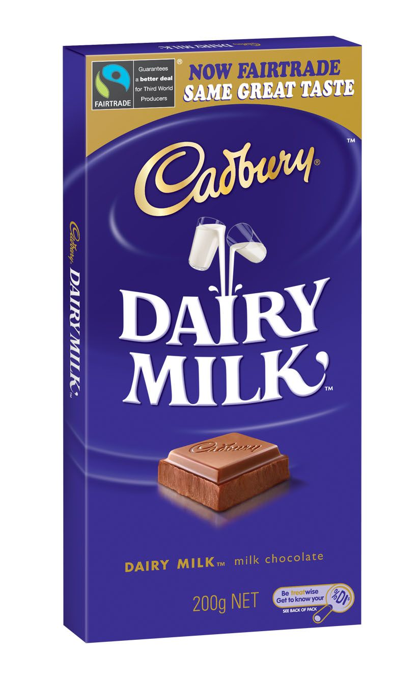 Cadbury has one fairtrade block of chocolate out of the 50