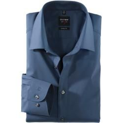 Photo of Olymp Level Five shirt, body fit, New York Kent, smoky blue, 38 Olymp