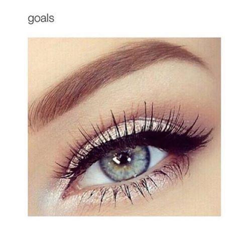 Image via We Heart It https://weheartit.com/entry/165596524 #eye #eyes #girl #goals #grey #makeup #waw
