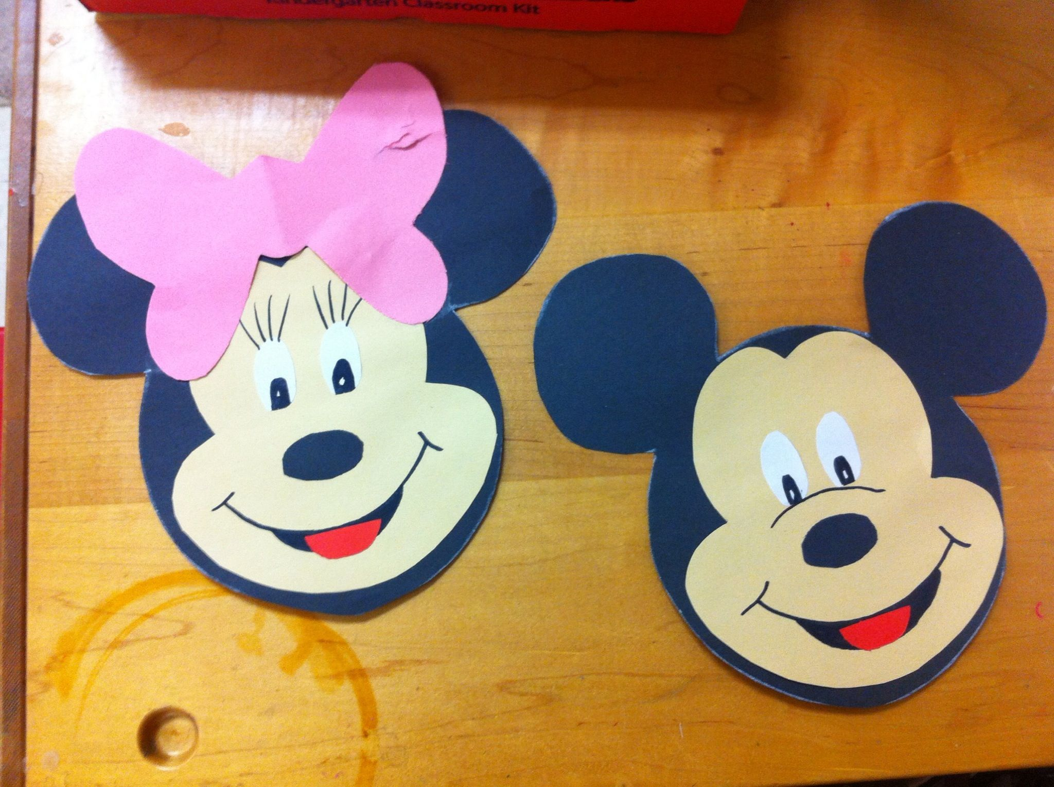 Letter M Craft Minnie Mickey Mouse Let Kids It Out Black Head