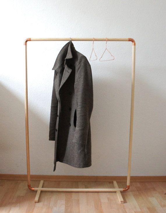 Diy Wood Copper Cloth Rack Diy Clothes Rack Diy Clothes Diy Rack