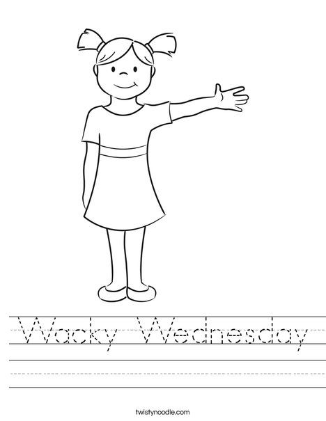 Wacky Wednesday Worksheet Twisty Noodle Create Your Wackiest
