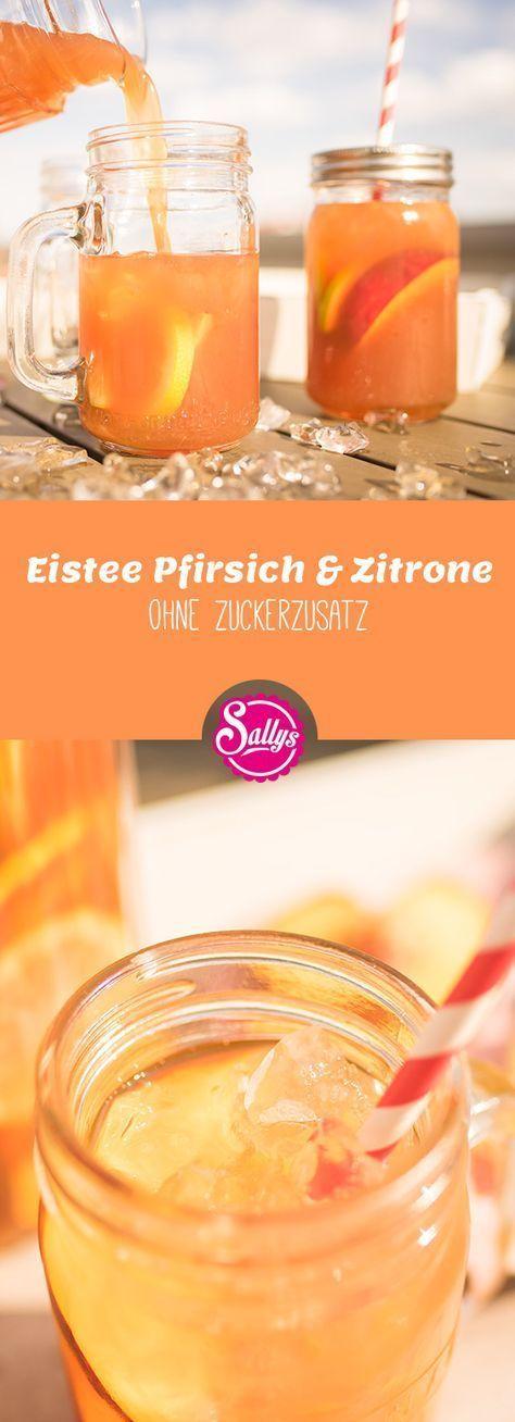 Eistee Pfirsich & Zitrone ohne Zuckerzusatz #cocktaildrinks