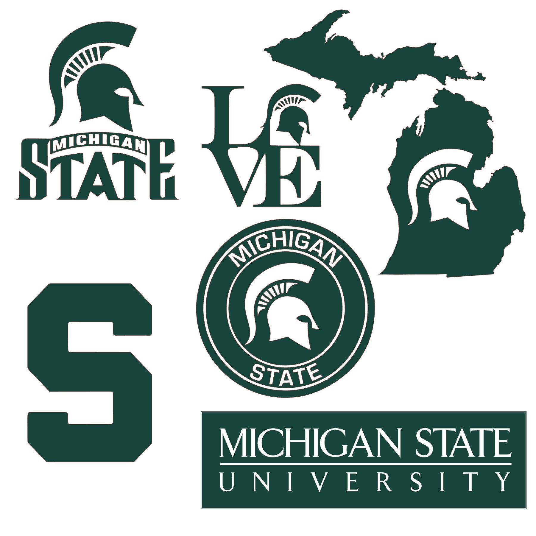 Michigan State And Spartan Logo Svg Michigan State University Michigan State Logo Michigan State Spartans Logo