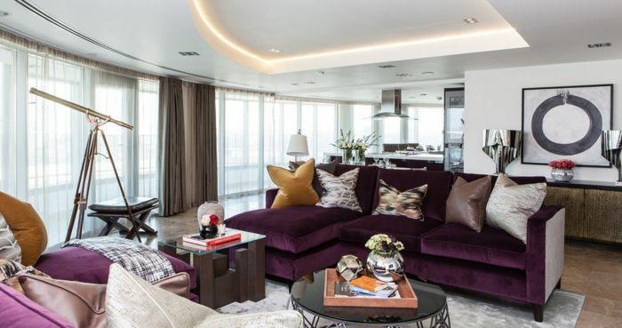 Living Room Ideas Aubergine ▷ 1001 + idées comment combiner la couleur aubergine