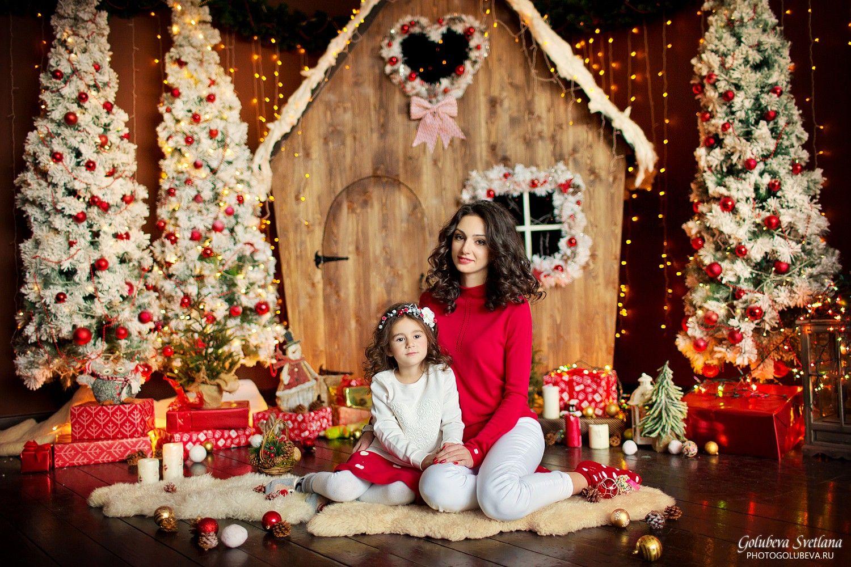 Сделать новогодний фон для фотосессии дома
