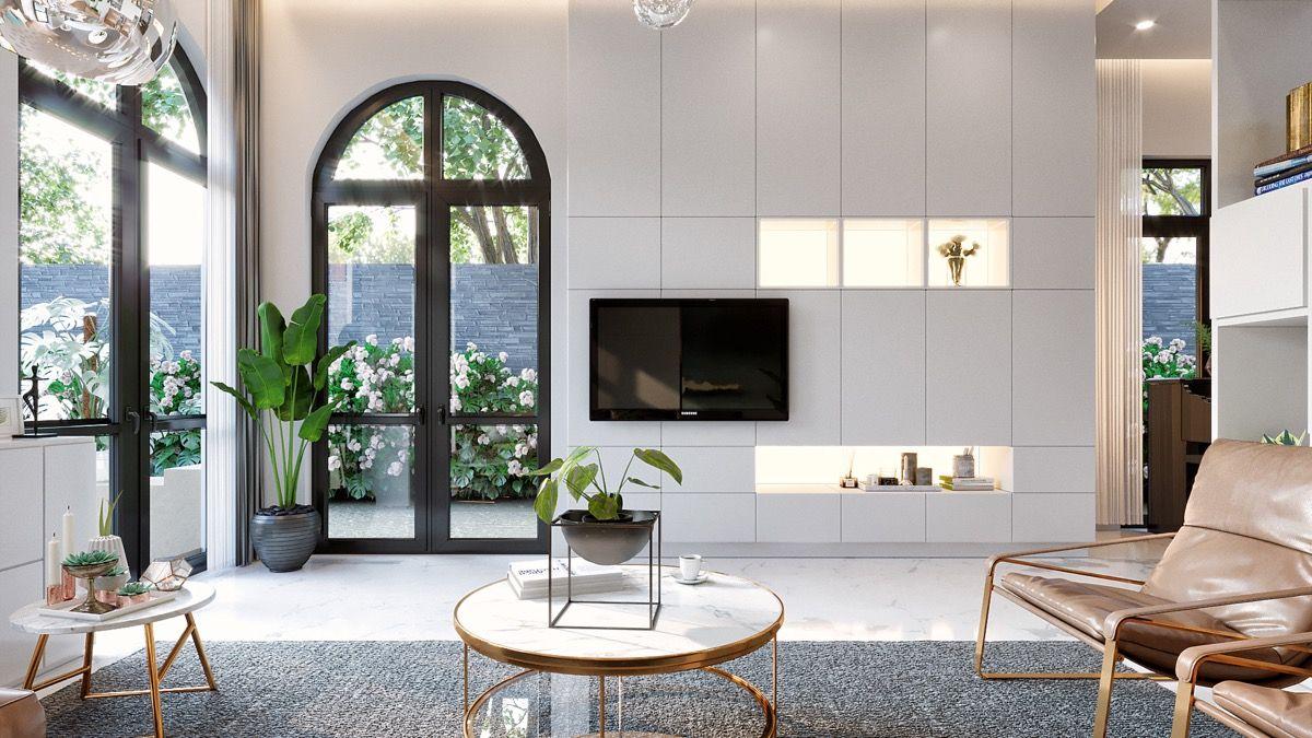 #Wohnzimmer 50 Ideen Zum Dekorieren Der Wand Sie Hängen Ihren Fernseher An  #50 #