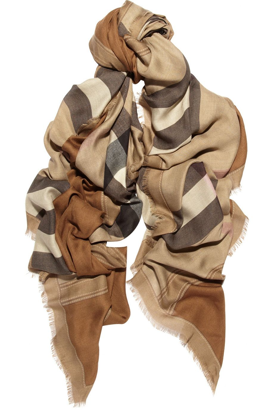 burberry | checked modal and cashmere scarf $650