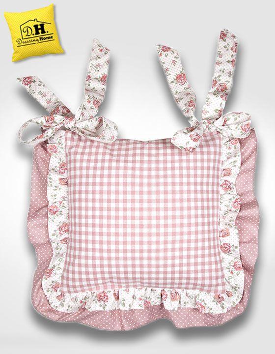 Il favoloso cuscino per sedia di angelica home country della collezione rose couture cuscini for Cuscini per sedie cucina provenzali
