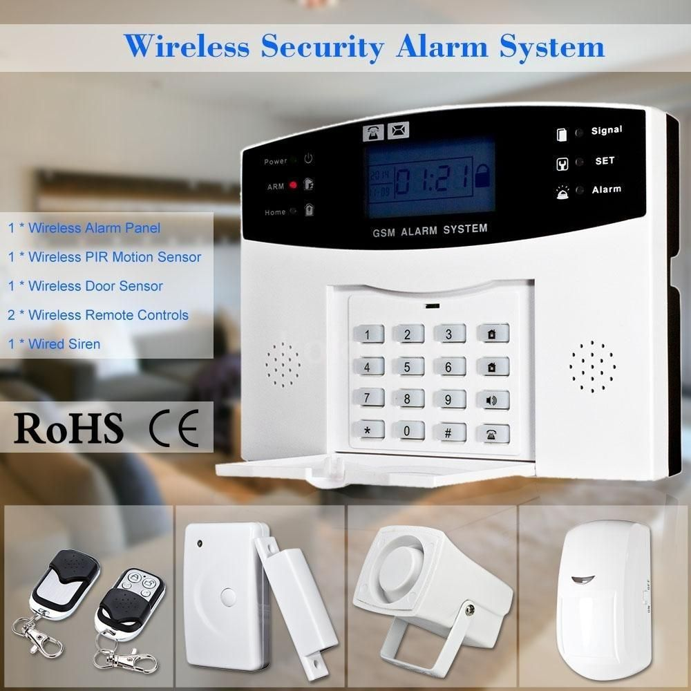 Wireless home security alarm system GSM Alarm Security System ...