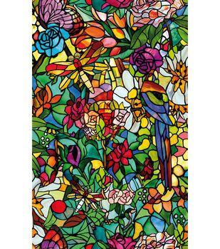 Peel And Stick Window Film Mosaic Stained Glass Window Film