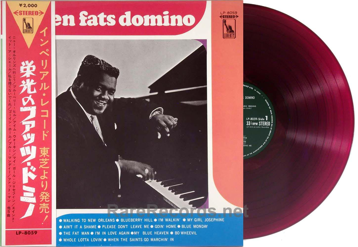 Fats Domino Golden Fats Domino Red Vinyl Japan Lp With Obi
