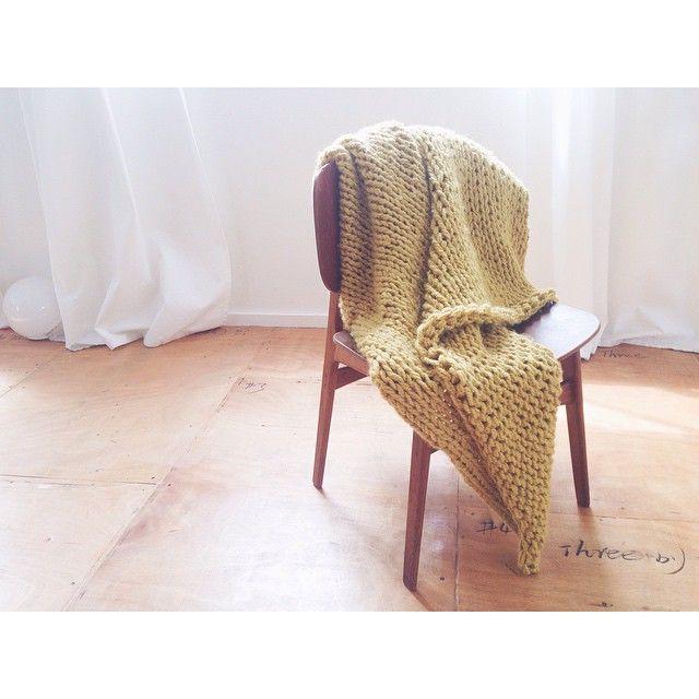 cozy, taking orders  #børgemogensen #chair #wood #handknit #giantknitting #craft #wool #knitting #handmade #home #love #design #interior #vsco #vscocam
